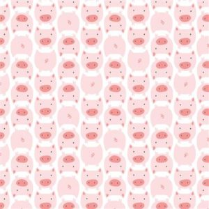 Tissu flanelle de coton Bio CLOUD 9 les petits cochons