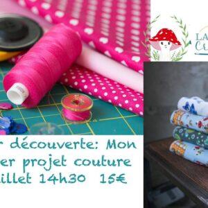 Atelier découverte de la couture 25 juillet