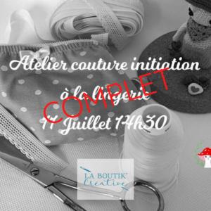 Atelier Initiation Lingerie
