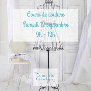 Cours de couture samedi 12 septembre