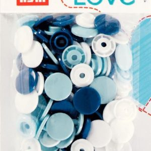 Pressions plastiques 12mm Prym Love assortiment Bleu