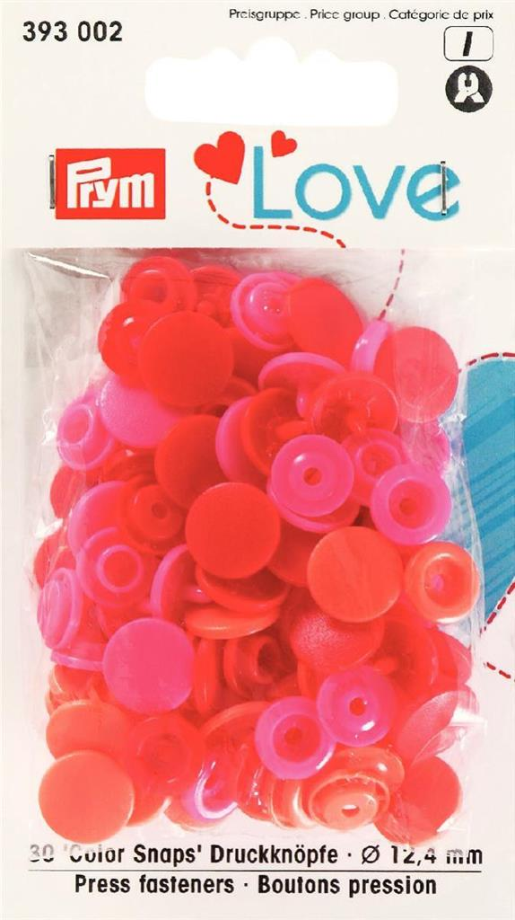 LOVE BOUTONS PRESSION PLAST ASS ROUG 12MM
