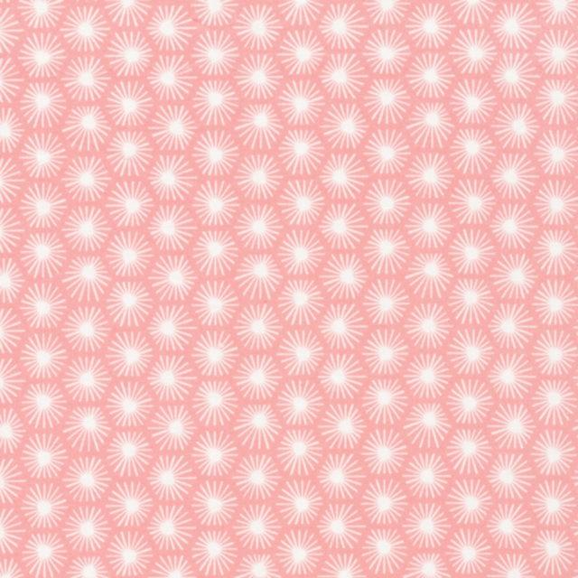 Tissu coton Bio CLOUD 9 Aubade Rose