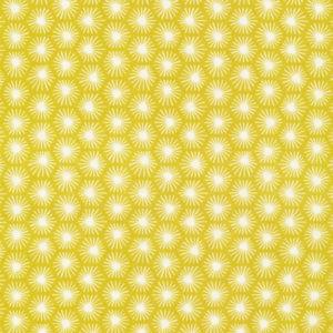 Tissu bio Cloud9 Aubade jaune( x10cm)