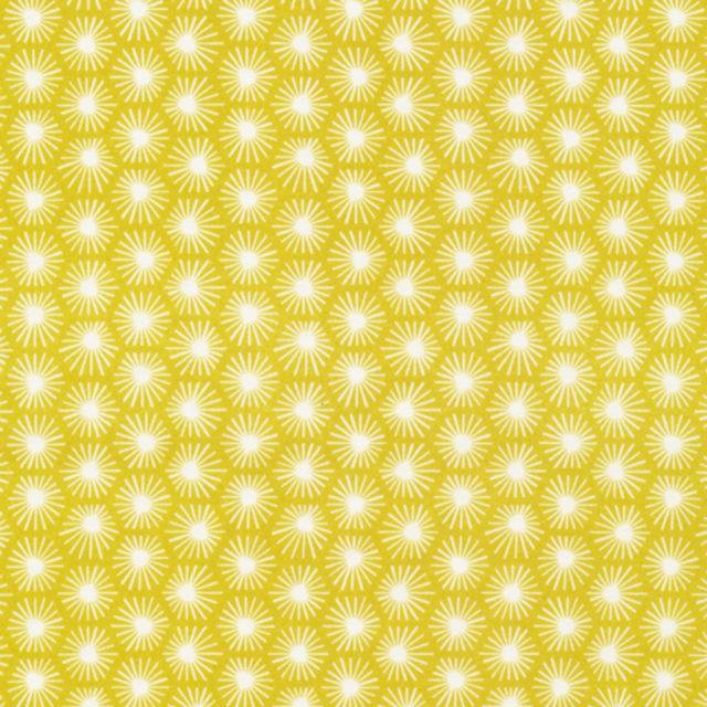 Tissu coton Bio CLOUD 9 Aubade jaune