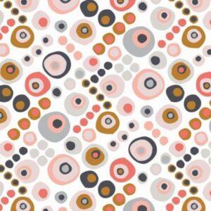 Tissu coton automne stylisé Laize 110cm (x10cm)
