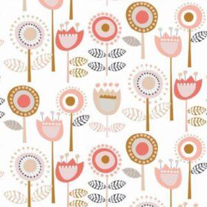 Tissu coton fleurs coupées Dashwood flouris