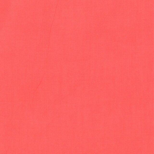 TISSU COTON UNI CORAIL LAIZE 150CM (X10cm)