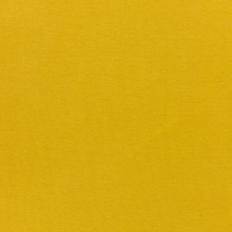 Bord côte jersey tubulaire moutarde laize de 35cm b