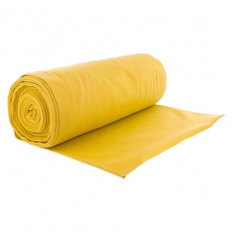 Bord côte jersey tubulaire moutarde laize de 35cm