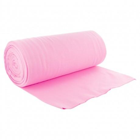 Bord côte jersey tubulaire rose laize de 35cm