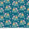 Tissu coton Champs de fleurs -NAVY