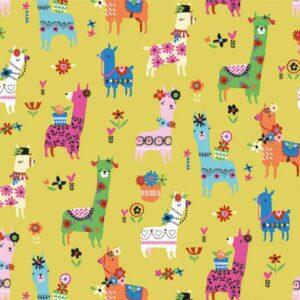 Tissu coton Fiesta Les Lamas laize 110cm (x10cm)