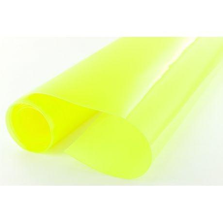 Tissu cristal transparent jaune 0,60 mm