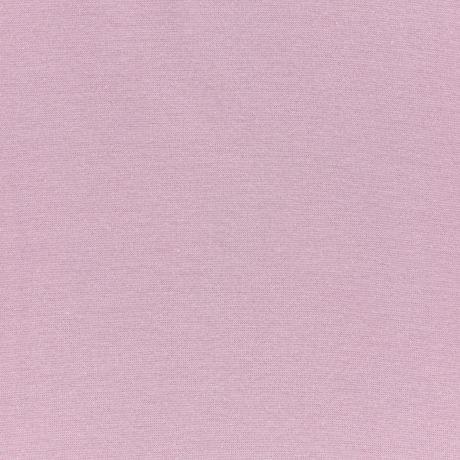 Bord côte jersey tubulaire vx rose laize de 35cm d