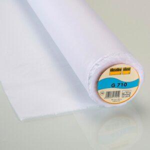 Entoilage G710 tissé coton thermo 90cm blanc (x10cm)