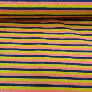 Tissu jersey rayé et lurex or (x 10cm)