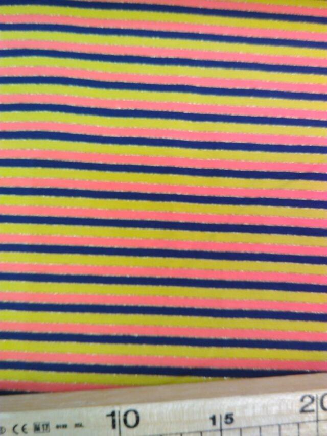 Tissu Jersey rayé et lurex