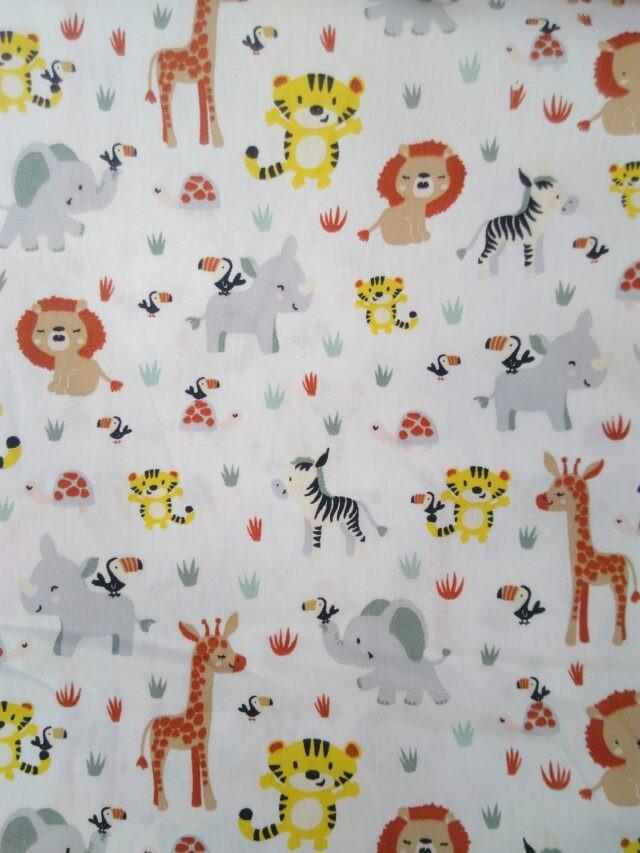 Tissu coton Poppy Savana Animalas
