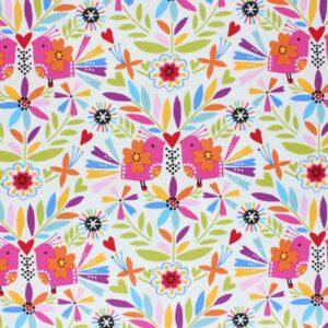 Tissu coton Fiesta Color pop laize 110cm (x10cm)