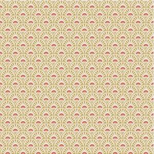 Popeline de coton Rétro graphic écru (x10cm)