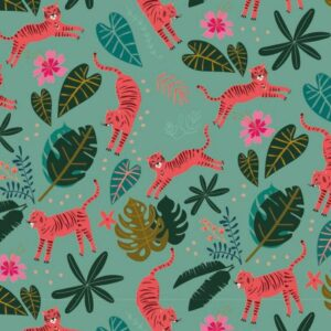 Tissu Dashwood night jungle C Laize 110 (x10cm)