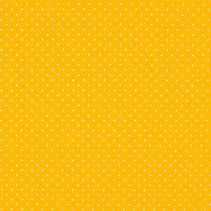 Tissu coton enduit Poppy jaune soleil mini pois (x10cm)