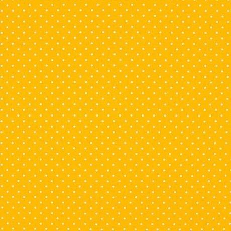 tissu enduit jaune soleil mini pois