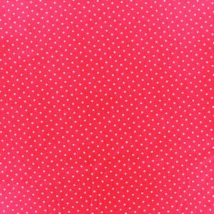 Tissu coton enduit Poppy rouge mini pois (x10cm)