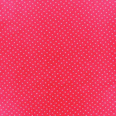 tissu enduit rouge mini pois