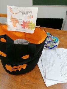Atelier couture enfants Sac à bonbons Halloween