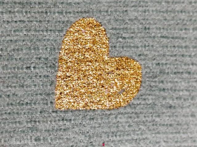 Velours imprimés petits coeurs or