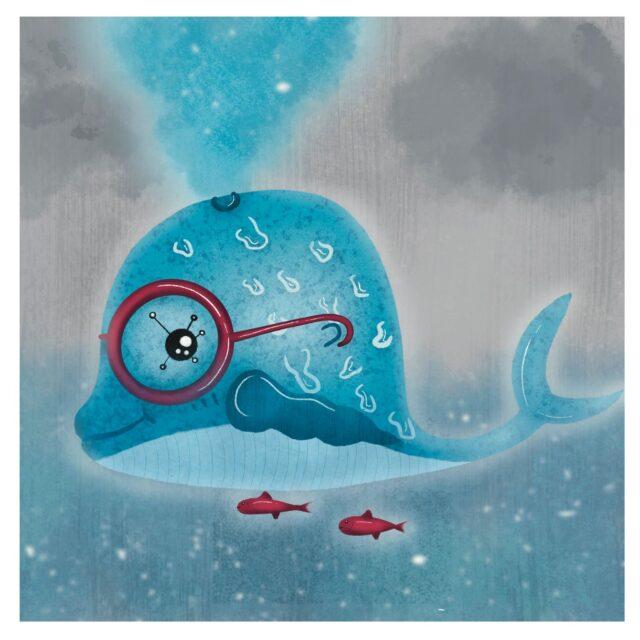 Coupon imprimé Baleine par Le Champignon Rouge