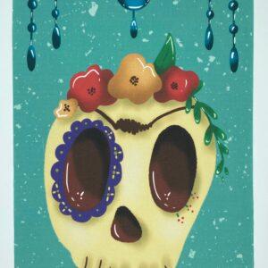 Coupon imprimé Skull par le Champignon Rouge
