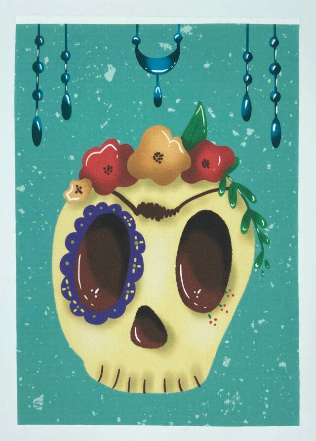 Coupon illustré par Le Champignon Rouge avec un motif Tête de mort