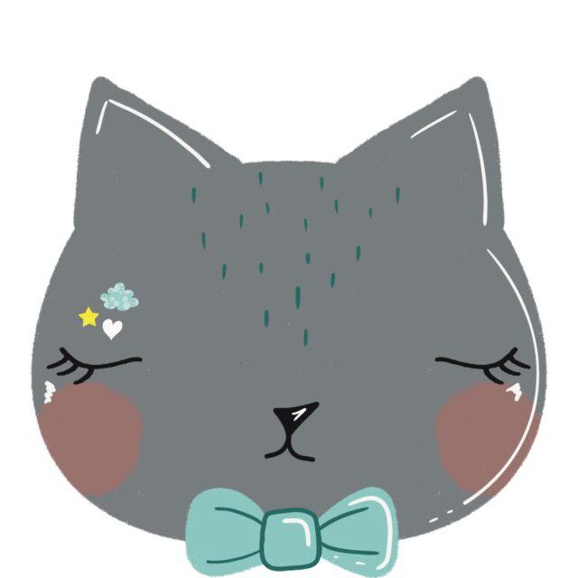 Tête de chat coupon illustré Le Champignon Rouge