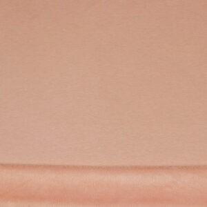 Tissu fausse fourrure rose poudré (x50cm)