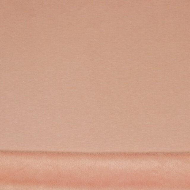 Tissu fausse fourrure col rose poudré