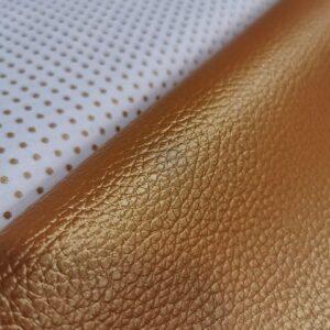 Tissu simili cuir irisé Cuivré (50cm x140cm)