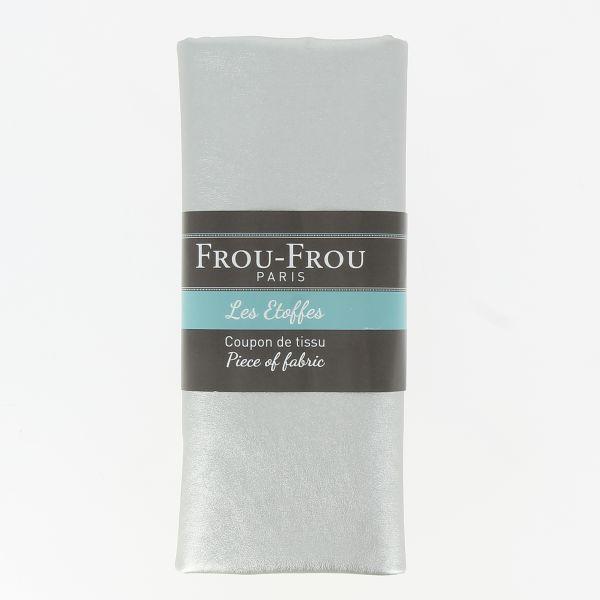 Coupon tissu simili FrouFrou Argent scintillant