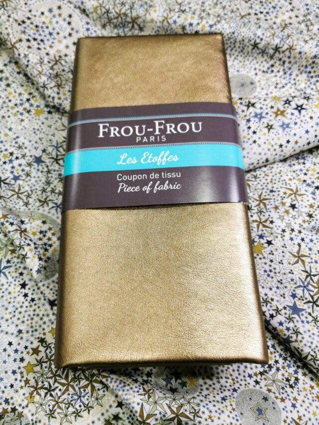 Coupon tissu simili cuivré Froufrou