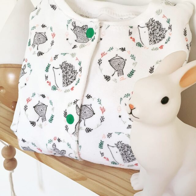Pyjama Une idée dans la tête avec un jersey velours La Boutik Créative de Rives