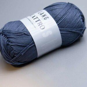 Fil coton Quattro Lang Yarns col bleu ardoise