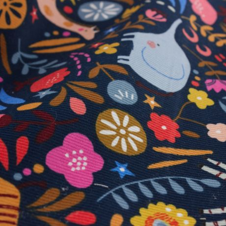 Tissu Dashwood velours Meadow Safari COL MARINE 476 1740