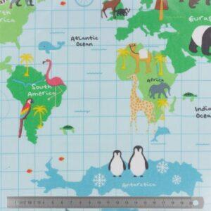 Tissu enduit Carte du monde