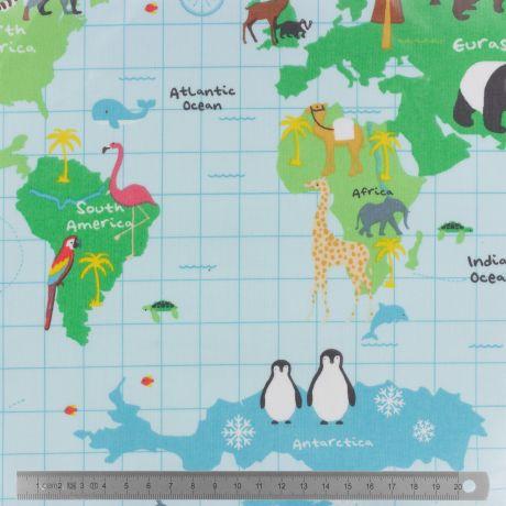 Tissu enduit Fryett's carte du monde
