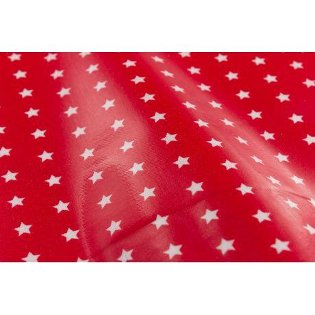 Tissu enduit Fryett's étoiles sur fond roug 2e