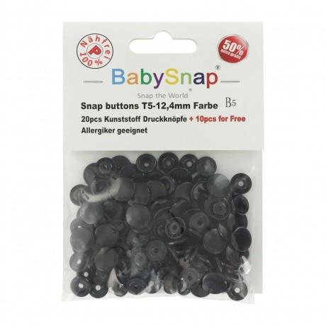 Pressions plastique Baby Snap Noire
