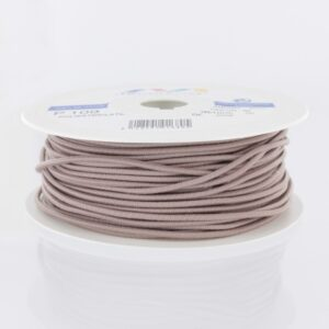 Cordon rond élastique 3mm sable (10cm)