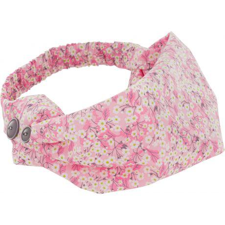 Kit bandeau en Liberty rose pour fille 2